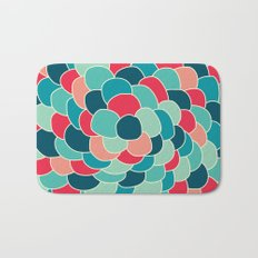 Petals (Aqua Red) Bath Mat