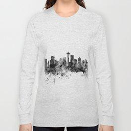 Seattle Washington Skyline Long Sleeve T-shirt