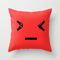 mad Throw Pillows featuring Mad by Jessica Jimerson