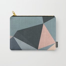 Moody urban Geometry - blue grey peach Carry-All Pouch