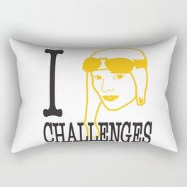 I __ Challenges Rectangular Pillow