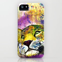 Daydreaming Leopard iPhone Case