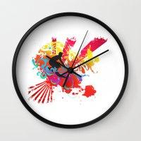 surfer Wall Clocks featuring Surfer by Allison Reich