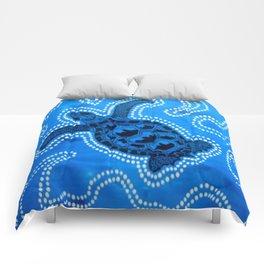 Aboriginal Art - Tortoise (Auowara) Comforters