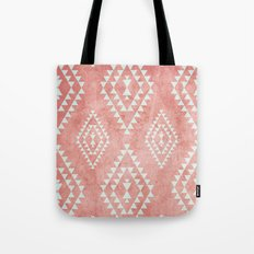 mint & coral tribal pattern (2) Tote Bag