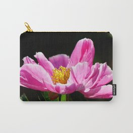 Pink Peony with Dark Background Carry-All Pouch