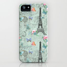 Paris - my love - France Eiffeltower Nostalgy - French Vintage iPhone Case