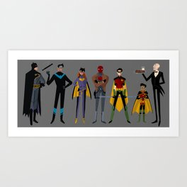 A Bat-Family Affair Art Print