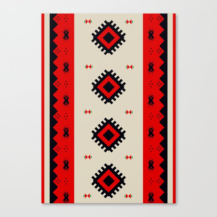 Romanian Pattern Canvas Print