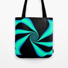 Abstract. Turquoise+Black. Tote Bag