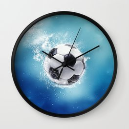 Soccer Water Splash Wall Clock