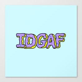 IDGAF Violet Donuts Canvas Print