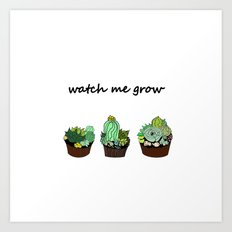 little green cactuses Art Print