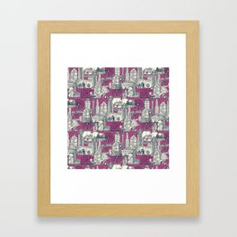 Seattle indigo crush Framed Art Print