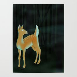 forest fawn Poster
