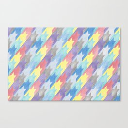 Multicoloured Houndstooth Canvas Print