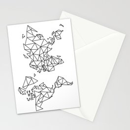 Geometric Low Poly Map of The World / Polygon geometry Stationery Cards