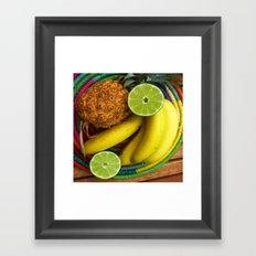 Banana Pineapple Lime Framed Art Print