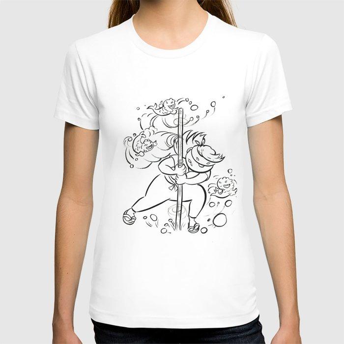 Ninja Master of Water - ink T-shirt