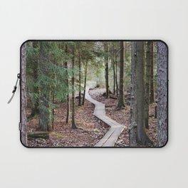 Duckboards to deep forest Laptop Sleeve