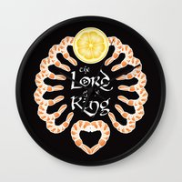 lord of the ring Wall Clocks featuring Lord of the Shrimp Ring by LucyDynamite