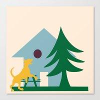 beagle Canvas Prints featuring Beagle by BruxaMagica_susycosta