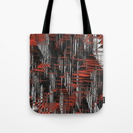 Red and Black Modern Art Tote Bag