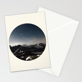 Mountain Starry Night Stationery Cards