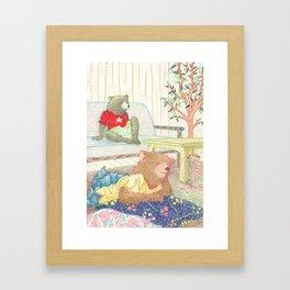 Everyday Animals- Little Bears lounge around Framed Art Print