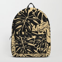 Black and gold palm Backpack