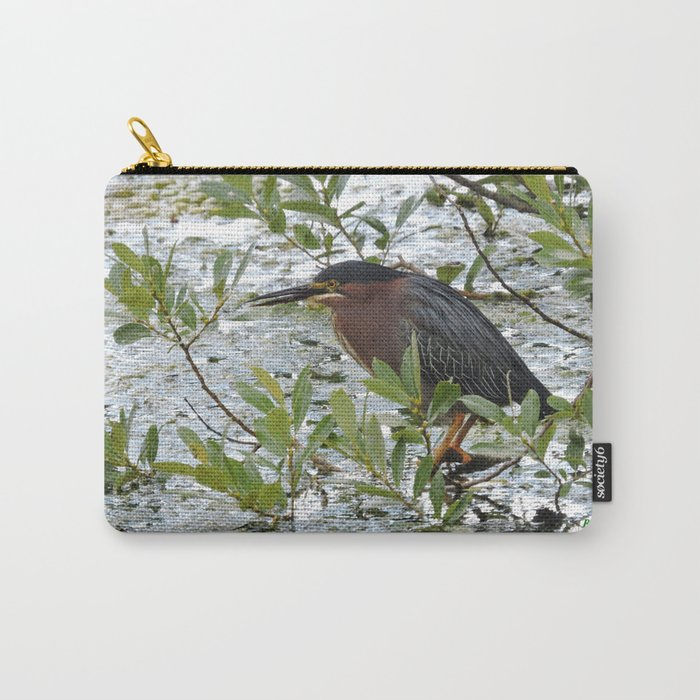 Green Heron at Lakeside Carry-All Pouch