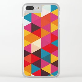 Triangular Composition XIX Clear iPhone Case