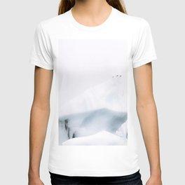 Birds on an Iceberg in Iceland– Monochrome Minimalism  T-shirt