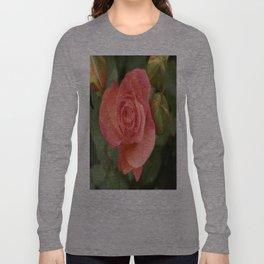 Rio Samba Rose Bloom Dew Drops Long Sleeve T-shirt