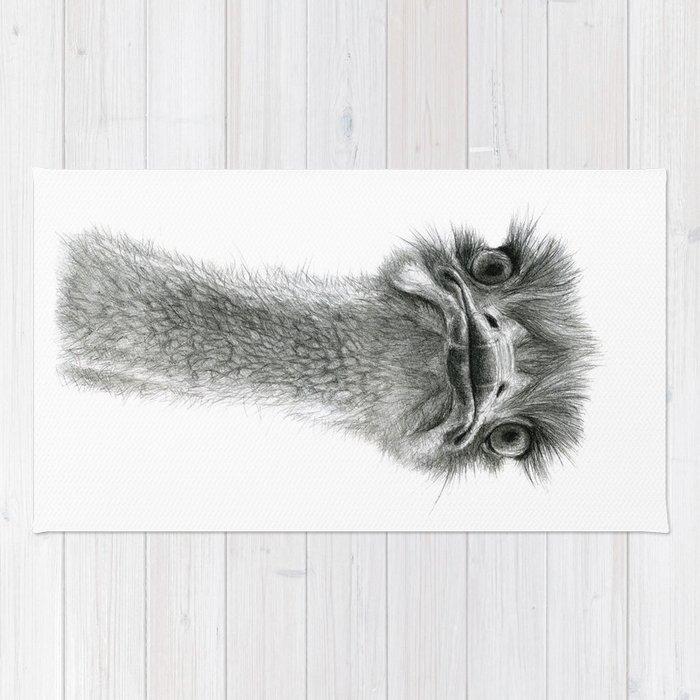 Cute Ostrich SK053 Rug