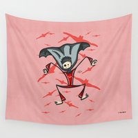 vampire Wall Tapestries featuring Vampire by Giuseppe Lentini