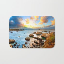 European Rock Beach Bath Mat