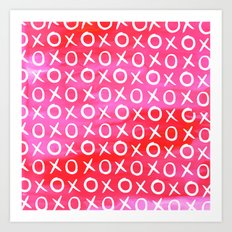 Love XO Pink Art Print