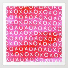 Love XO Pink Art Print