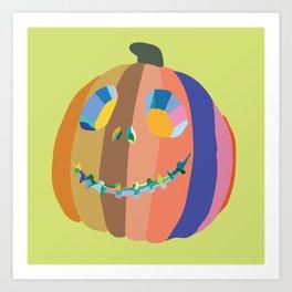 Happy Pumpkin Art Print