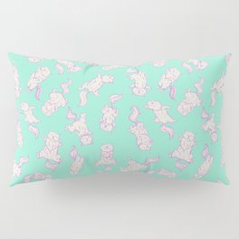 Lazy Cat Pattern Solid Pillow Sham