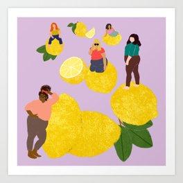 Lemon Babes Art Print