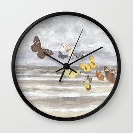 Butterfly escape Wall Clock