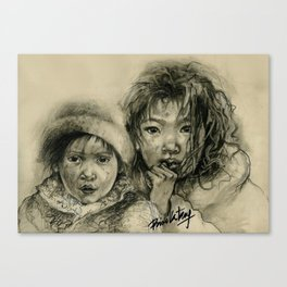 """""""Protect Our Children"""" Series - Asia Street Children Canvas Print"""