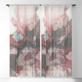 rosy and right as rain Sheer Curtain