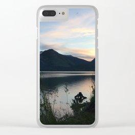 Tetons at Dawn Clear iPhone Case