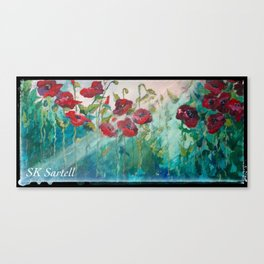 Poppies, Windblown and Bedraggled Canvas Print