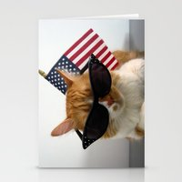patriotic Stationery Cards featuring PAWSitively Patriotic by Michelle Dokos