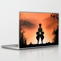 kakashi Laptop & iPad Skins featuring Naruto - Nine Tails Chakra Mode by Kesen