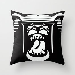 bearHead Logo Throw Pillow